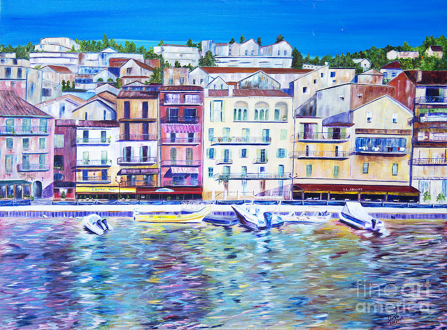 France Painting - Mediterranean Morning by JoAnn DePolo