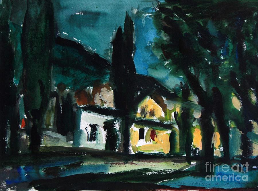 Mediterranean Painting - Mediterranean Night by Andrey Semionov