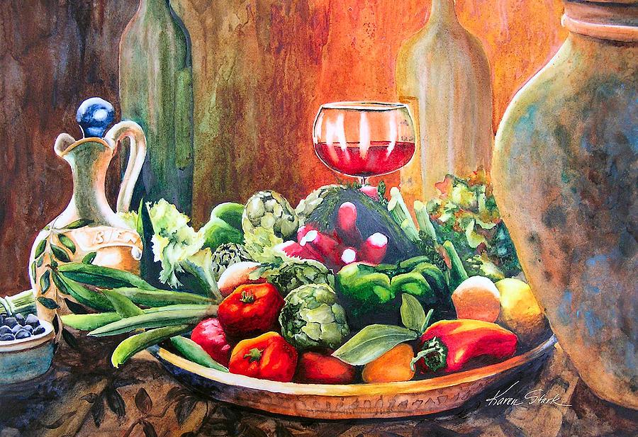 Still Life Painting - Mediterranean Table by Karen Stark