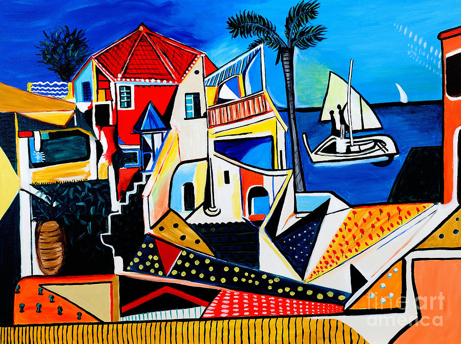 Mediterranean- Tribute To Picasso Painting by Art by Danielle