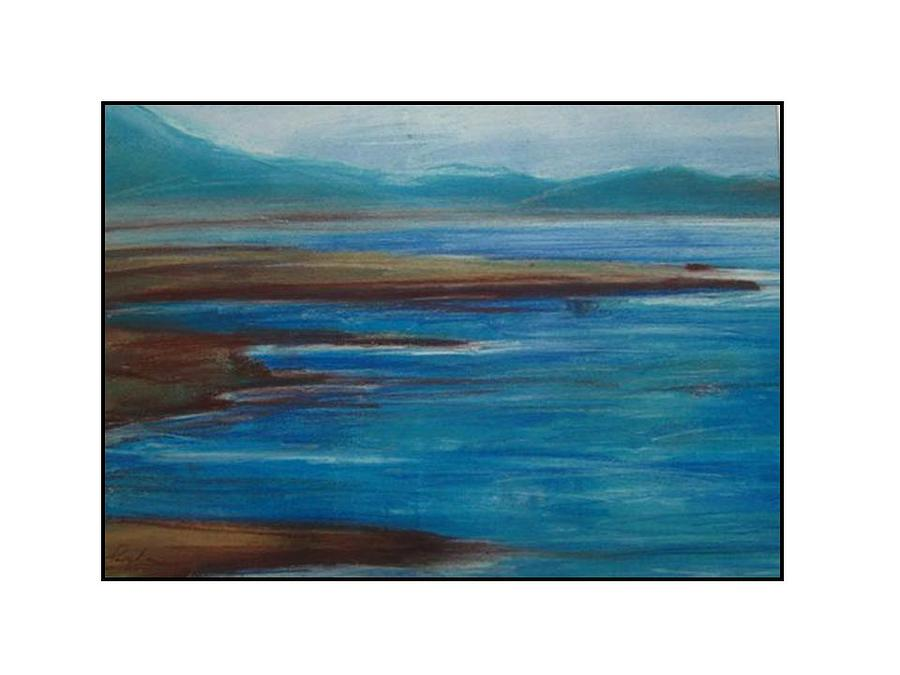 Mediterranean View Pastel by Angela Puglisi