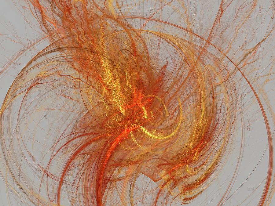 Abstract Digital Art - Medusa Bad Hair Day - Fractal by Menega Sabidussi