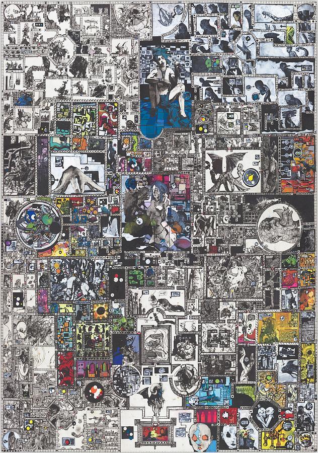 Zak Smith Painting - Medusa Maze by Zak Smith