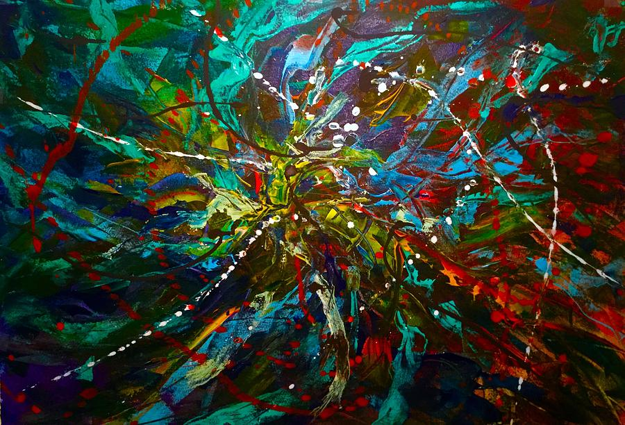 Abstract Art Of Medusa Painting