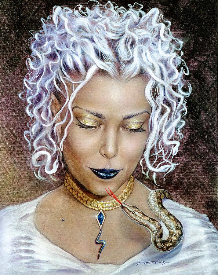 Portrait Painting - Medusa by Salvatore DeVito