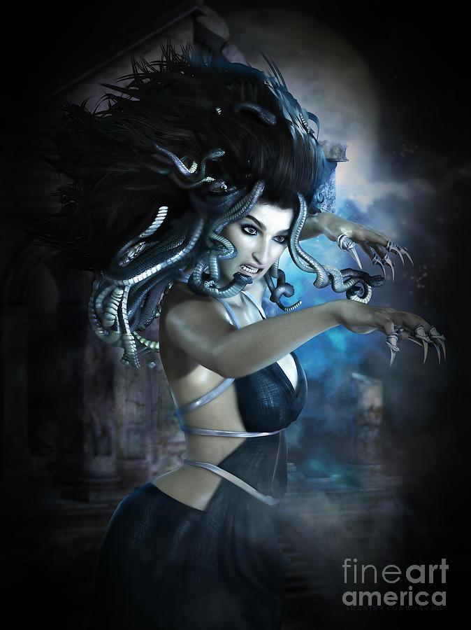 Medusa Digital Art - Medusa by Shanina Conway