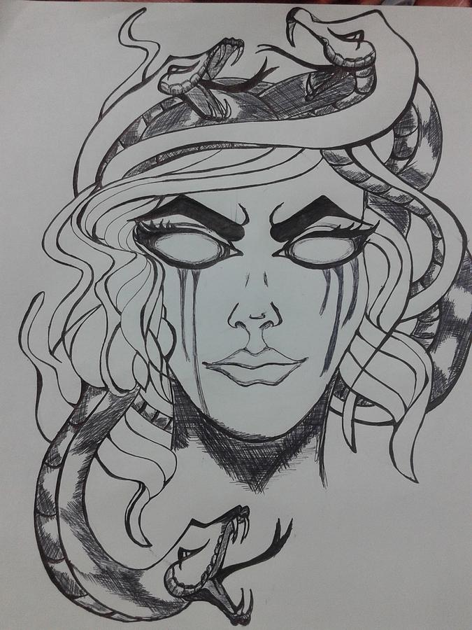 Medusa Drawing By Swathi Ranjan Medusa drawing | medusa drawing tumblr medusa sketch by nenatattoo. medusa by swathi ranjan