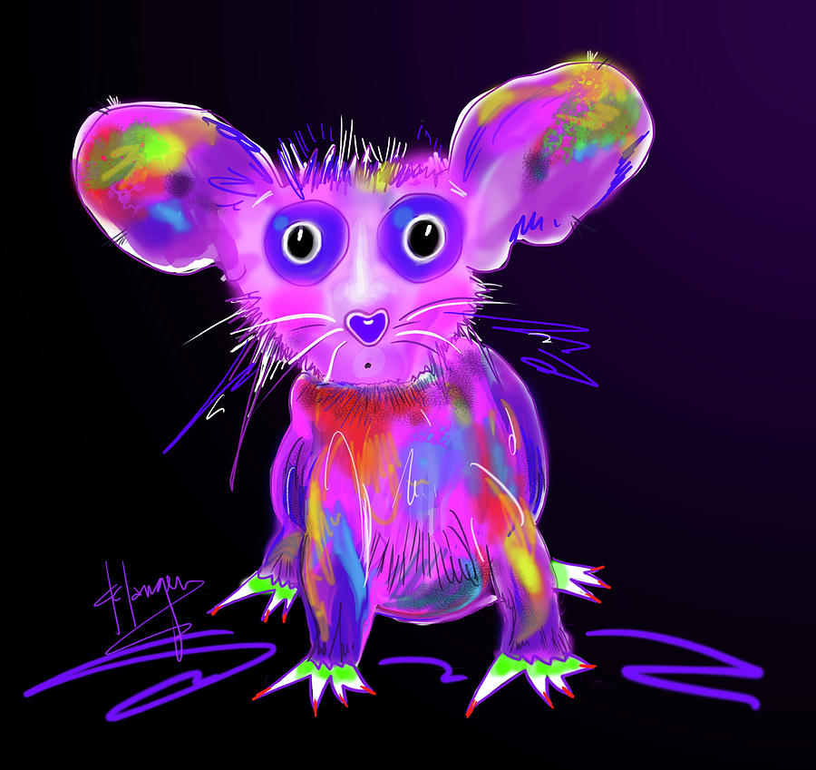 Dizzy Painting - Meep by DC Langer