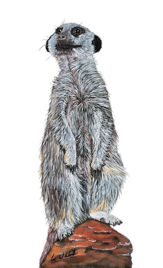 Meerkat Painting - Meer Curiosity Custom by Lee Wolf Winter