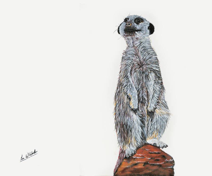 Meerkat Painting - Meer Curiosity by Lee Wolf Winter