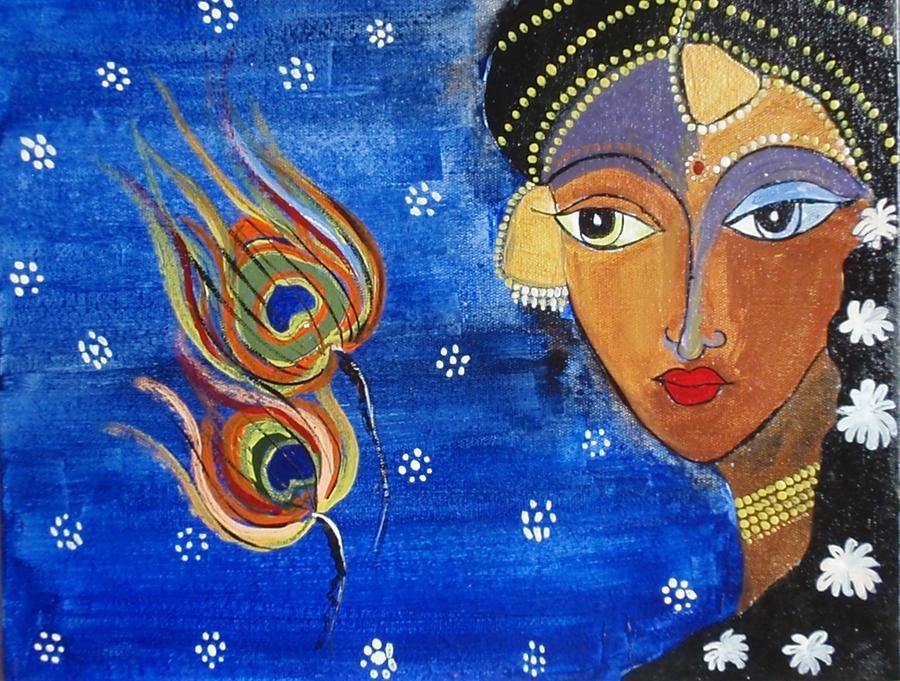 Meera Painting - Meera by Shilpa Mehta