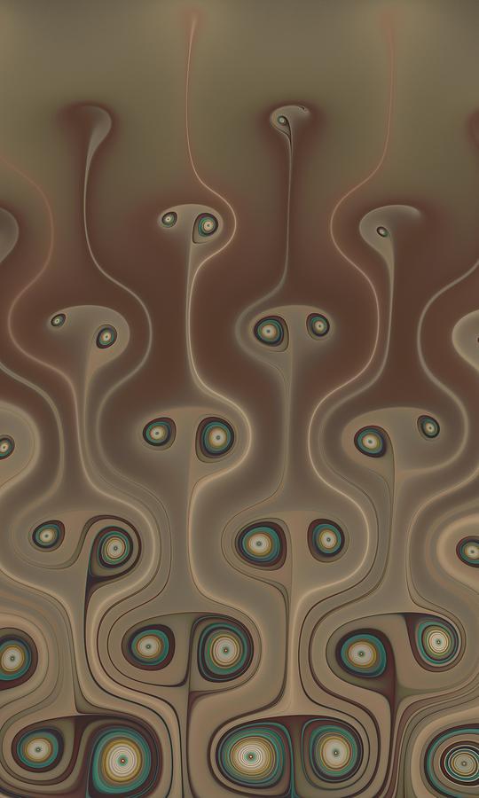 Fractal Digital Art - Meerkats by Ian Duncan Anderson