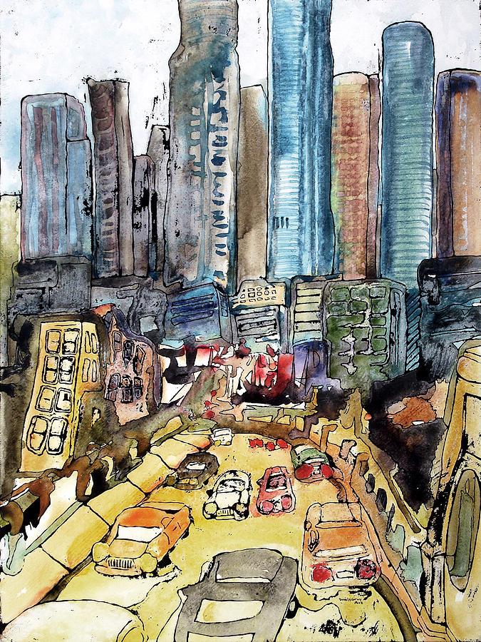 Little Tokyo Painting - Meet Me In Little Tokyo by Daniel Gray