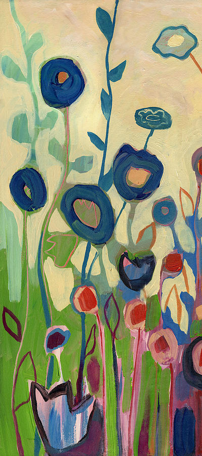 Floral Painting - Meet Me In My Garden Dreams Part A by Jennifer Lommers