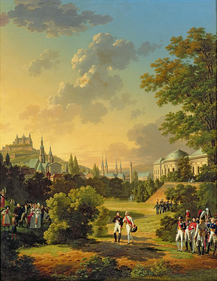 Meeting Painting - Meeting Between Napoleon I And Ferdinand IIi by Hippolyte Lecomte
