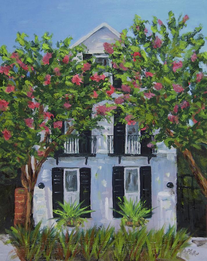 Charleston Painting - Meeting Street In Bloom by Rosie Phillips