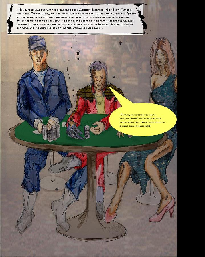 Casino Painting - Meeting The Duke by Nicola Lees