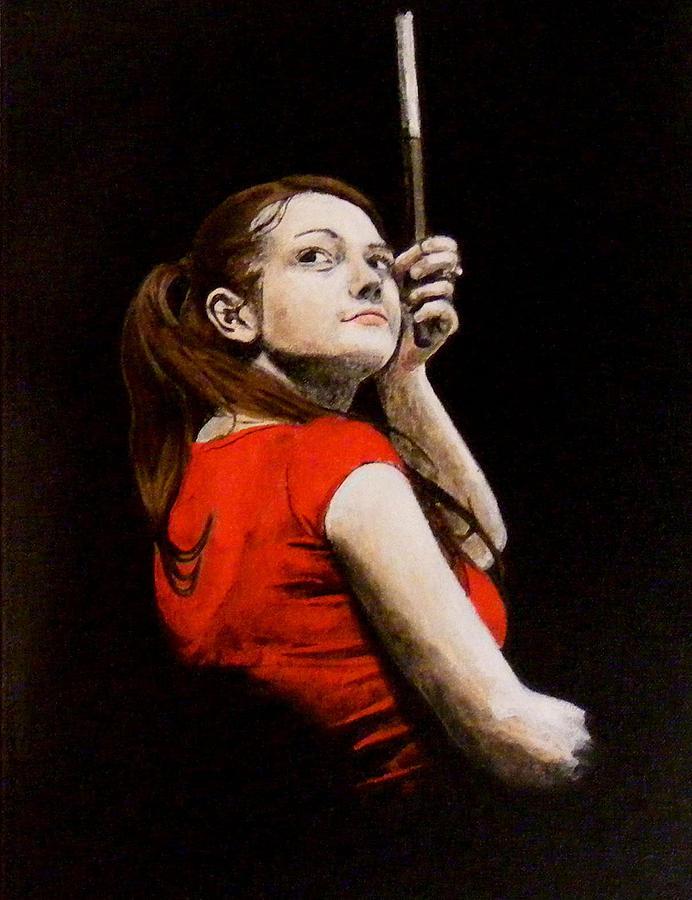 Meg White Painting - Meg White by Luke Morrison
