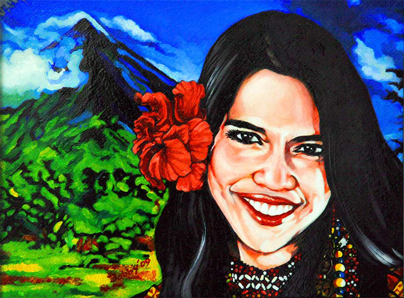 Girl Painting - Meg With A Smile by Bobby Barredo