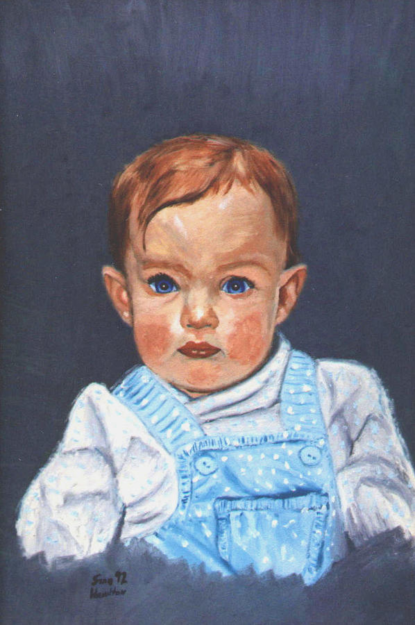 Baby Painting - Megan At 12 Months by Stan Hamilton