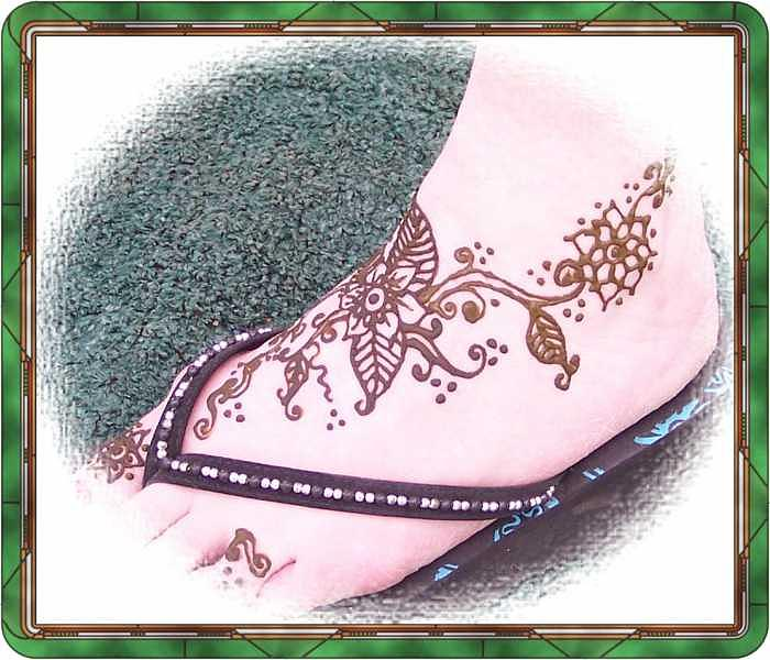 Henna Drawing - Mehndi Foot by Janet Gioffre Harrington