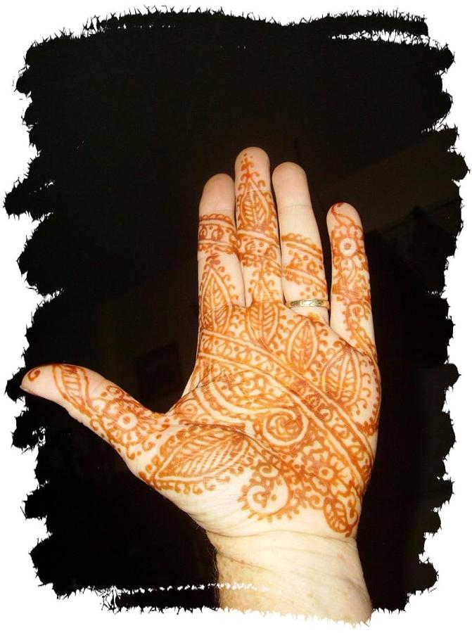 Traditional Mehndi Drawing - Mehndi by Janet Gioffre Harrington