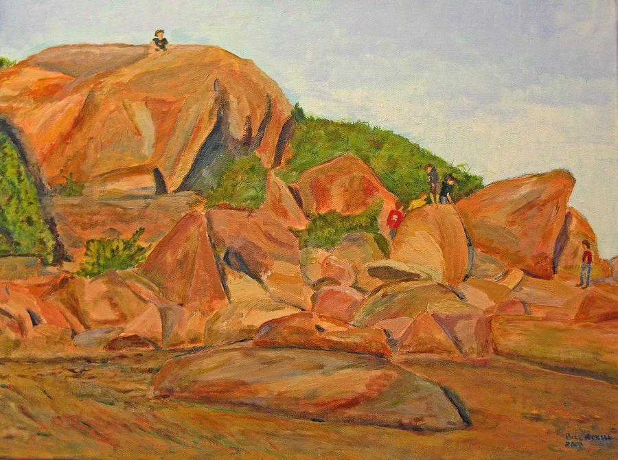 Hammonasset Painting - Meigs Point - Summer by Bill Revill