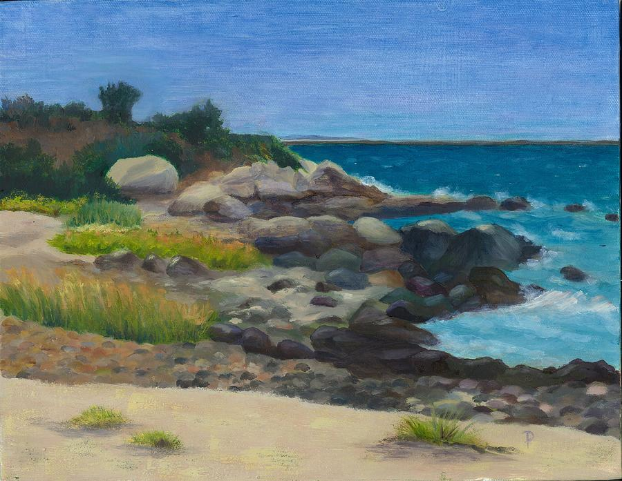 Landscape Painting - Meigs Point by Paula Emery