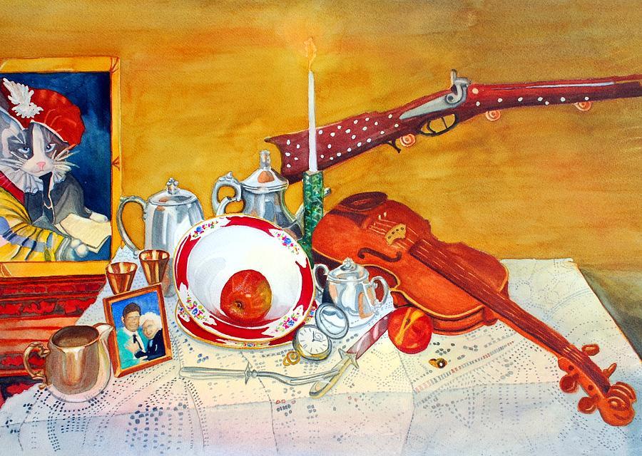 Watercolor Painting - Meine Familie Geschichte by Gerald Carpenter