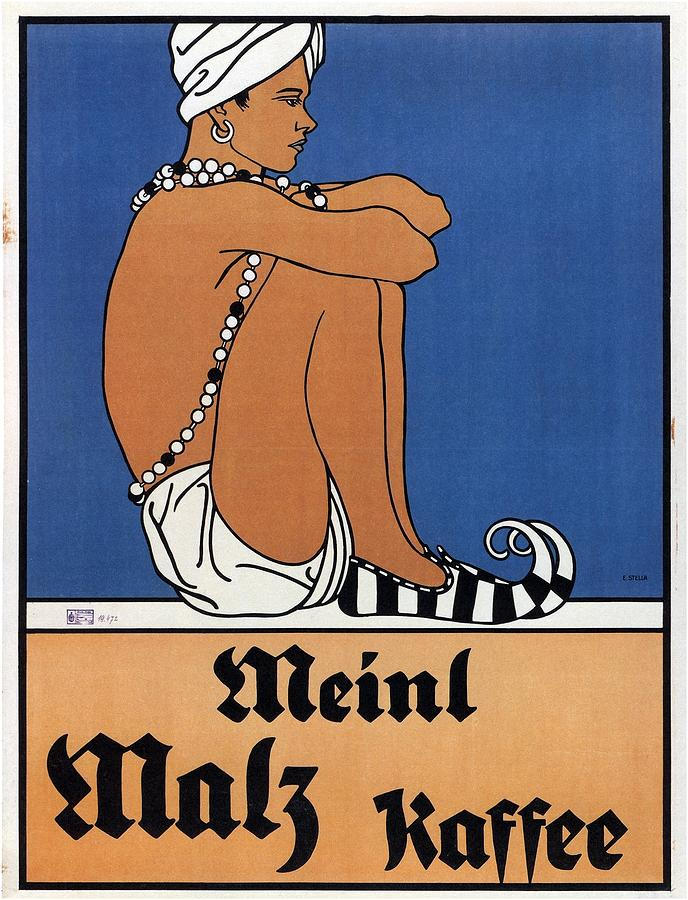Meinl Malz Kaffee - Coffee Malt - Vintage Advertising Poster Mixed Media