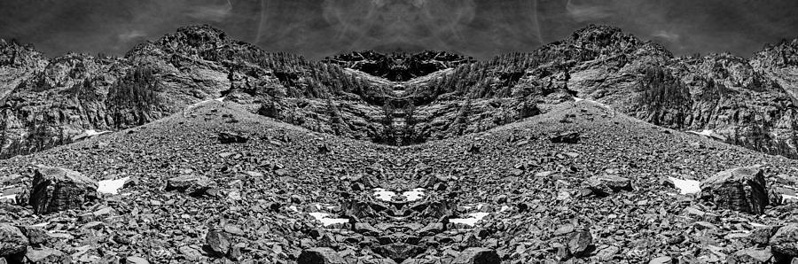 Melakwa Pass Black And White Reflection Digital Art