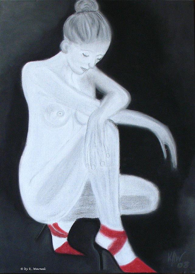 Nude Drawing - Melancholy by Klaudia Warwel