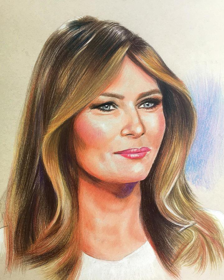 Melania Trump Drawing by Robert Korhonen