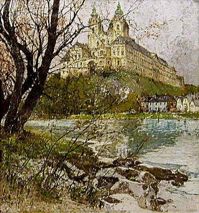 Austria Painting - Melk On The Danube by Luigi Kasimir