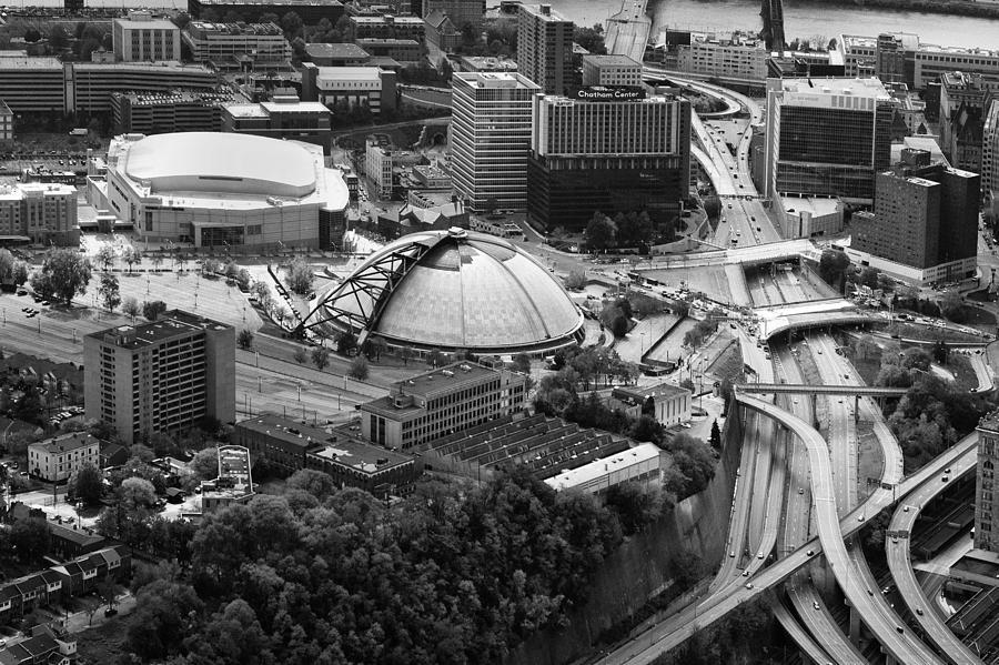 Aerial Photography Photograph - Mellon Arena  by Emmanuel Panagiotakis
