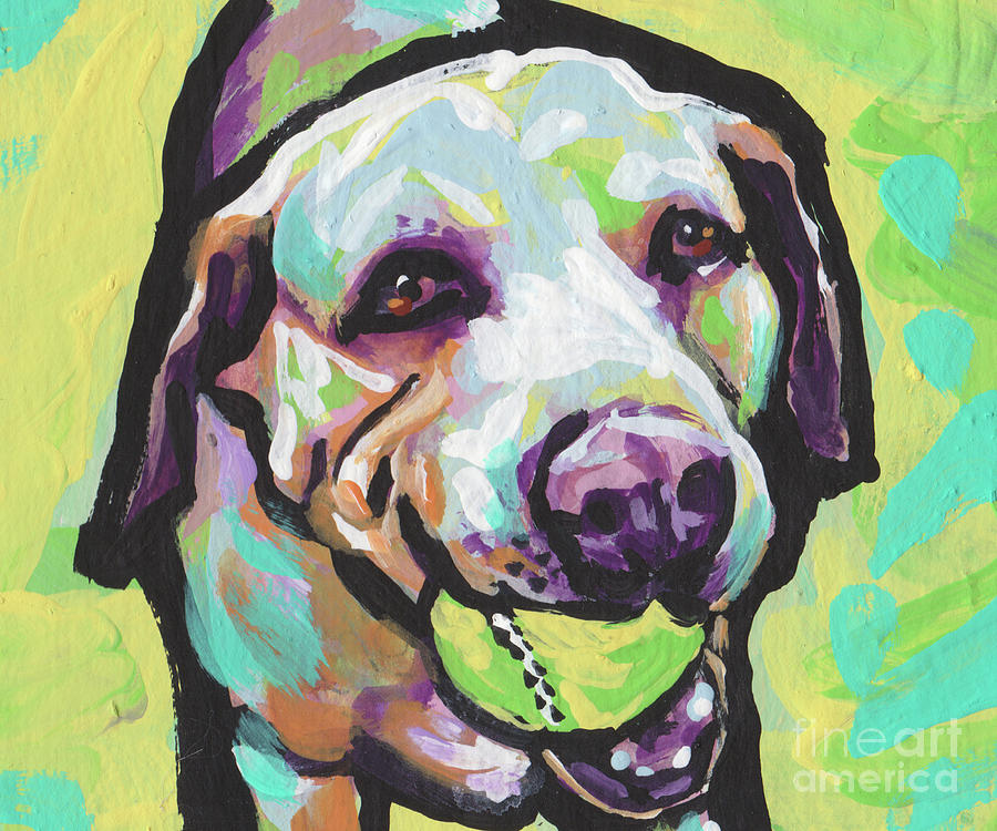 Yellow Lab Painting - Mellow Yellow Lab by Lea
