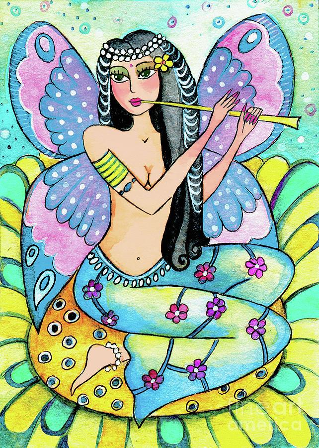 Indian Dancer Painting - Melody Of Asmara by Eva Campbell