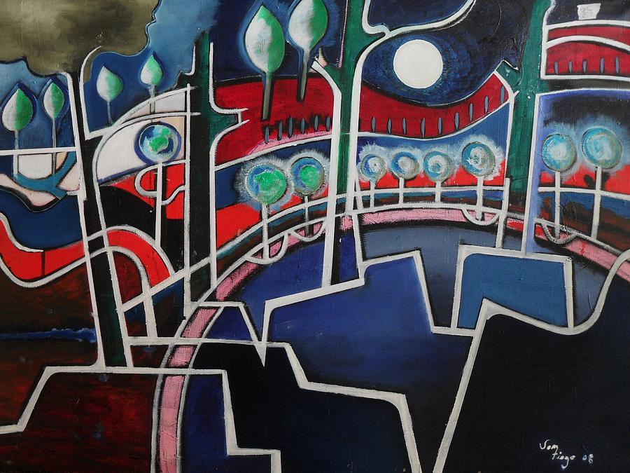 Melody Park  Painting by Adalardo Nunciato  Santiago