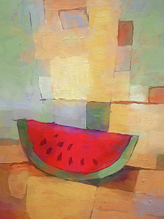 Melon Abstract by Lutz Baar