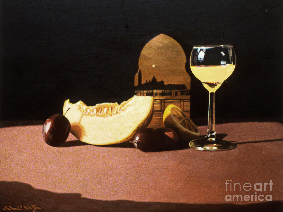 Painting Painting - Melon And Orange Juice by Daniel Montoya