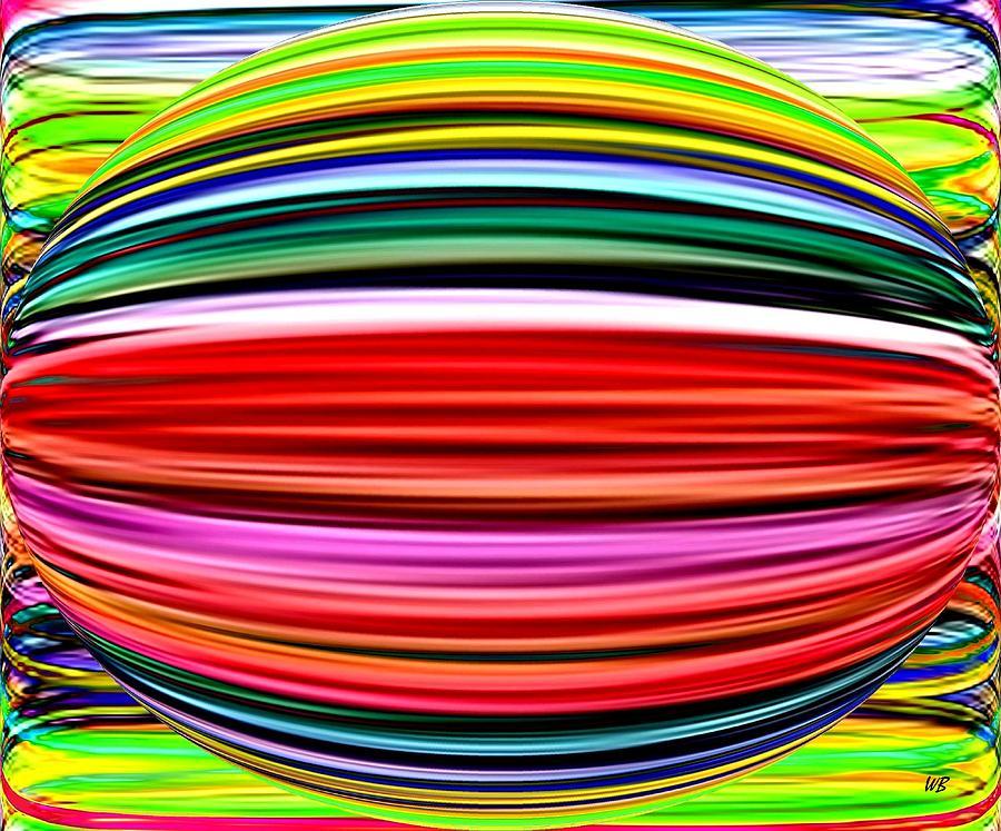 Abstract Digital Art - Melon Mania by Will Borden
