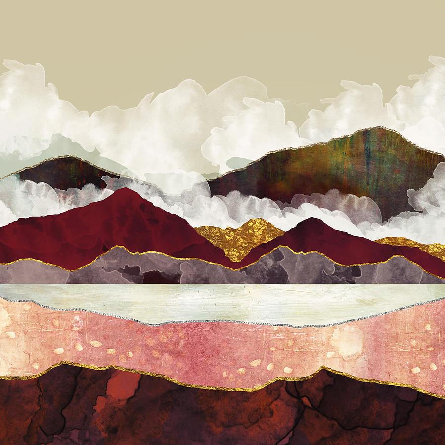 Mountains Digital Art - Melon Mountains by Katherine Smit