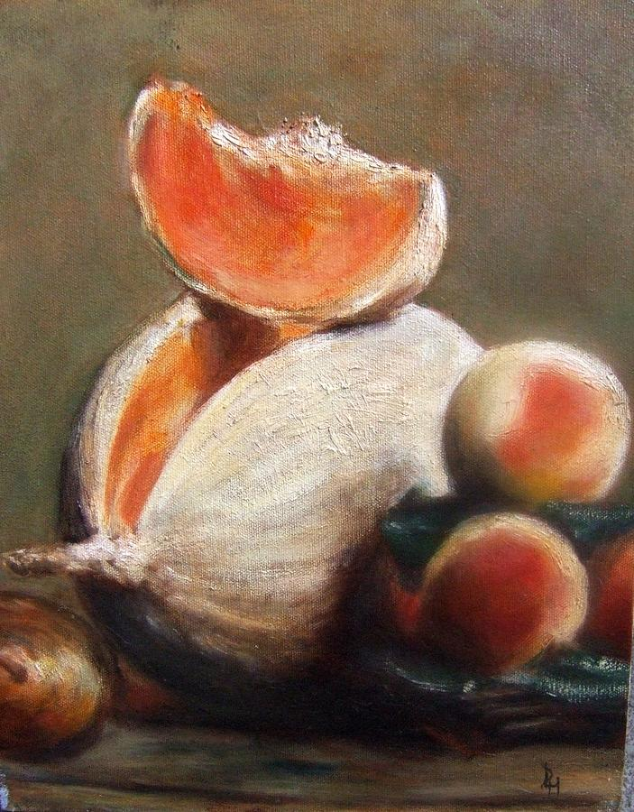 Melons Painting - Melons by Darlene LeVasseur