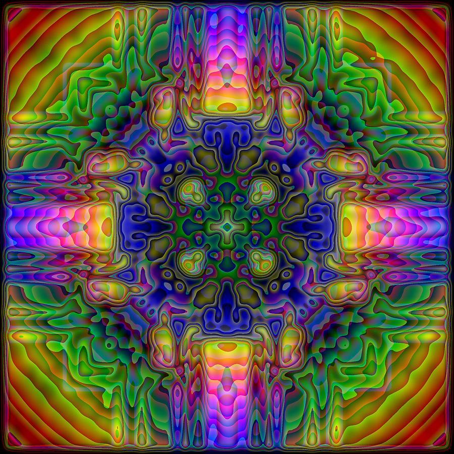 Kaleidoscope Digital Art - Melted by Lyle Hatch