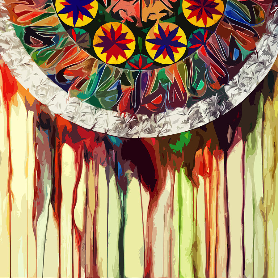 Melting Abstract Dream Catcher