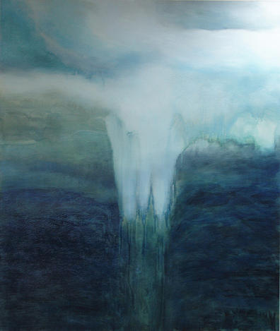 Abstract Painting - Melting by Anne Bradford