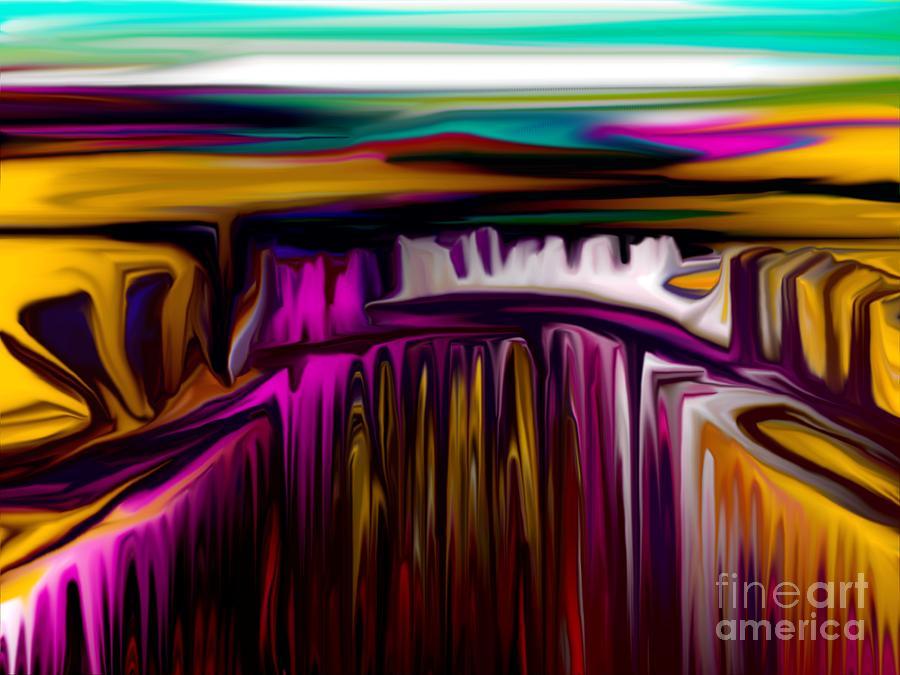 Abstract Digital Art - Melting by David Lane