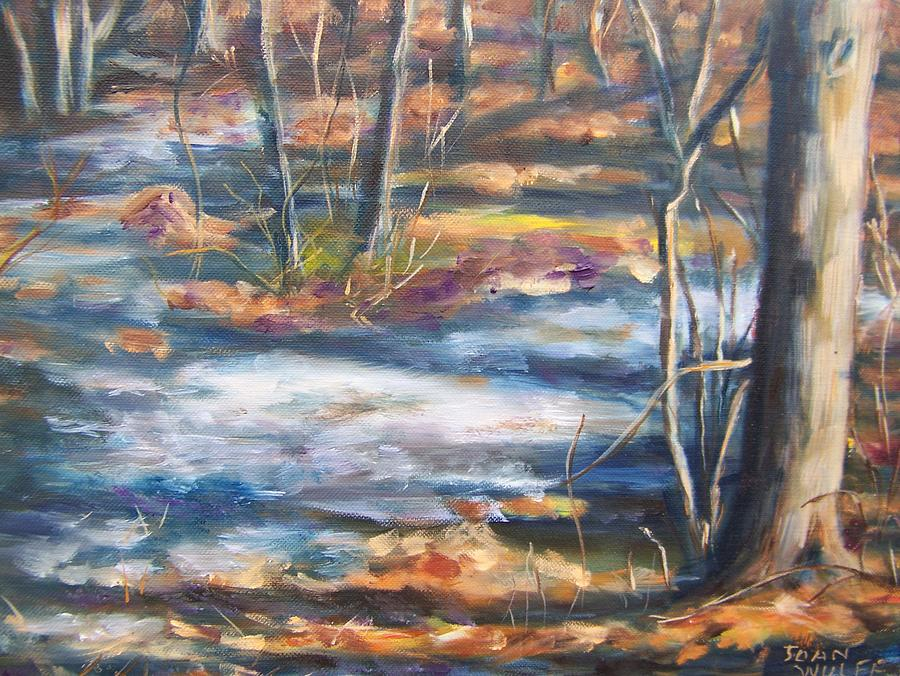 Landscape Painting - Melting Snow by Joan Wulff