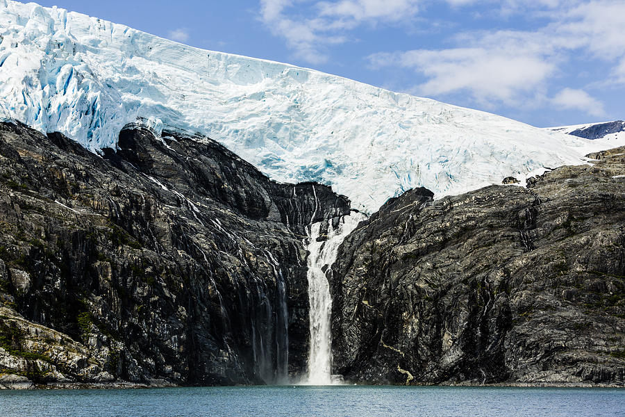 Chugach Mountains Photograph - Meltwater From The Northland Glacier by Ray Bulson