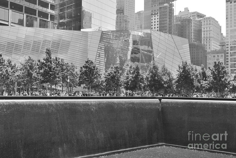 9-11 Photograph - Memorial Falls by Jost Houk